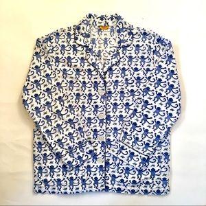 Roberta Roller Rabbit Monkey Pajama Shirt Top